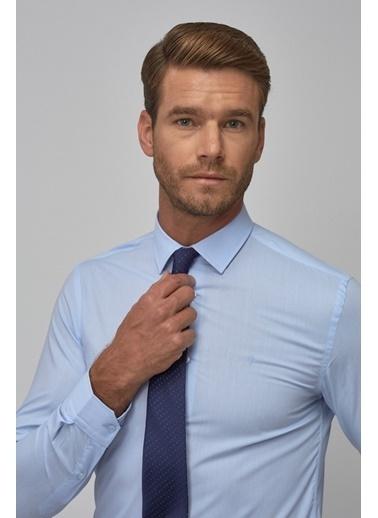 Altınyıldız Classics Tailored Slim Fit Klasik Gömlek 4A2000000001 Mavi